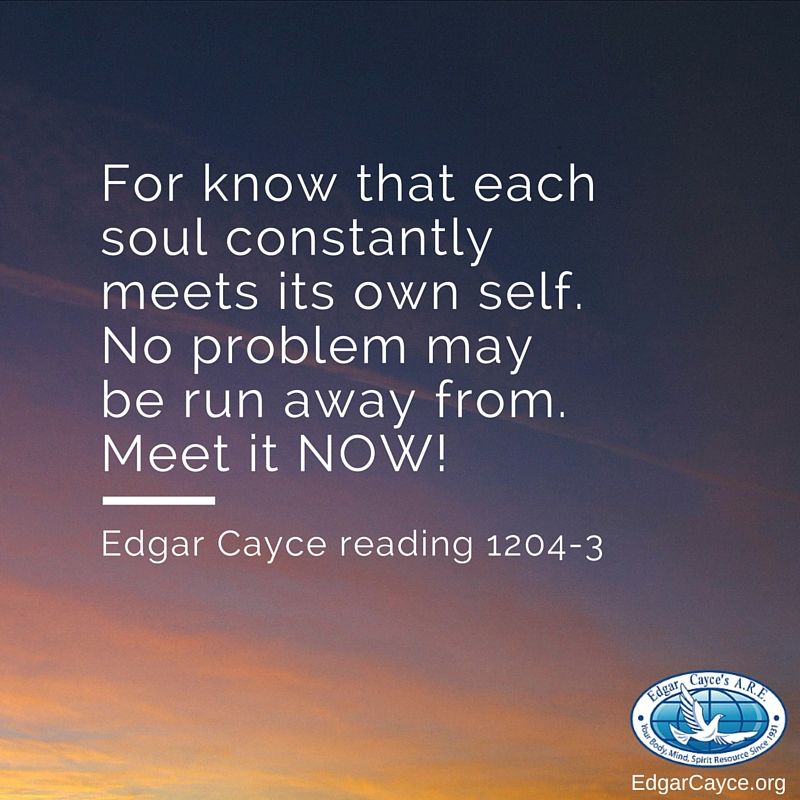 For know that each soul constantly meets its own self  No