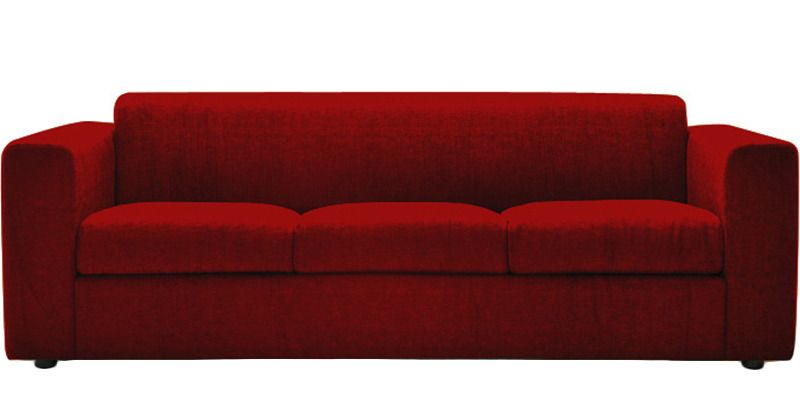 Chesterfield Sofa Online India Three Seater Sofa In Red Colour By Planet Decor By Planet