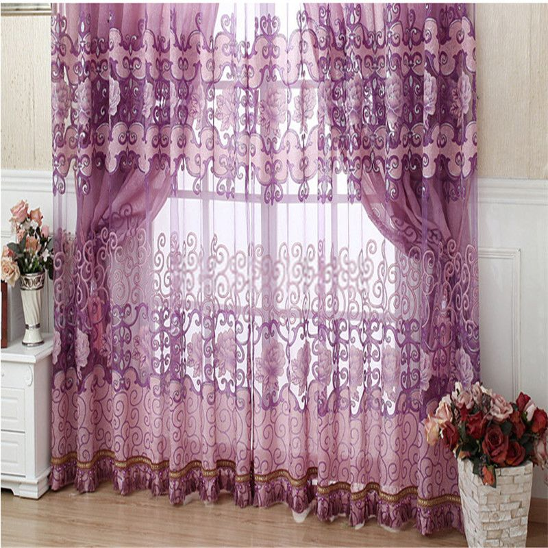 Elegant Fabulous And Contemporary Living Room Curtains In Purple Color (No Include  Valance) Part 31