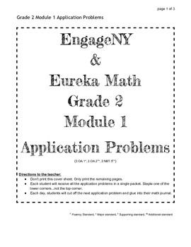 Engageny And Eureka Math Grade 2 Application Problems For All