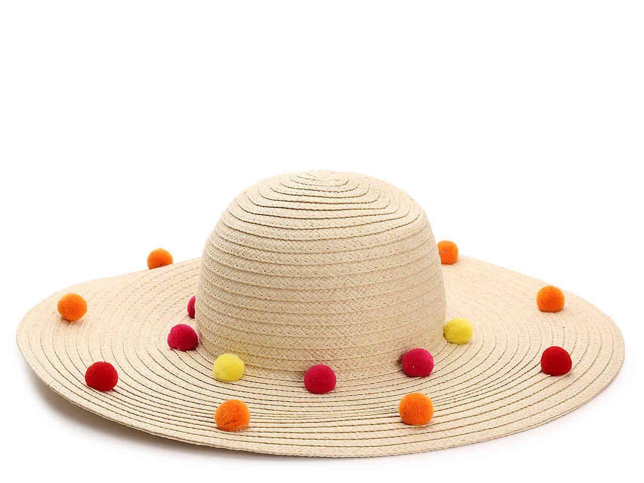 359721b654075 Funfetti Pom Floppy Hat Pom Poms