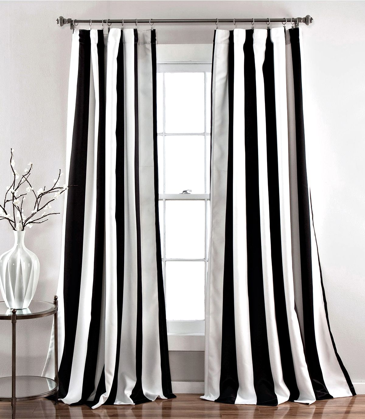 My Favorite Black And White Curtains Striped Room Window