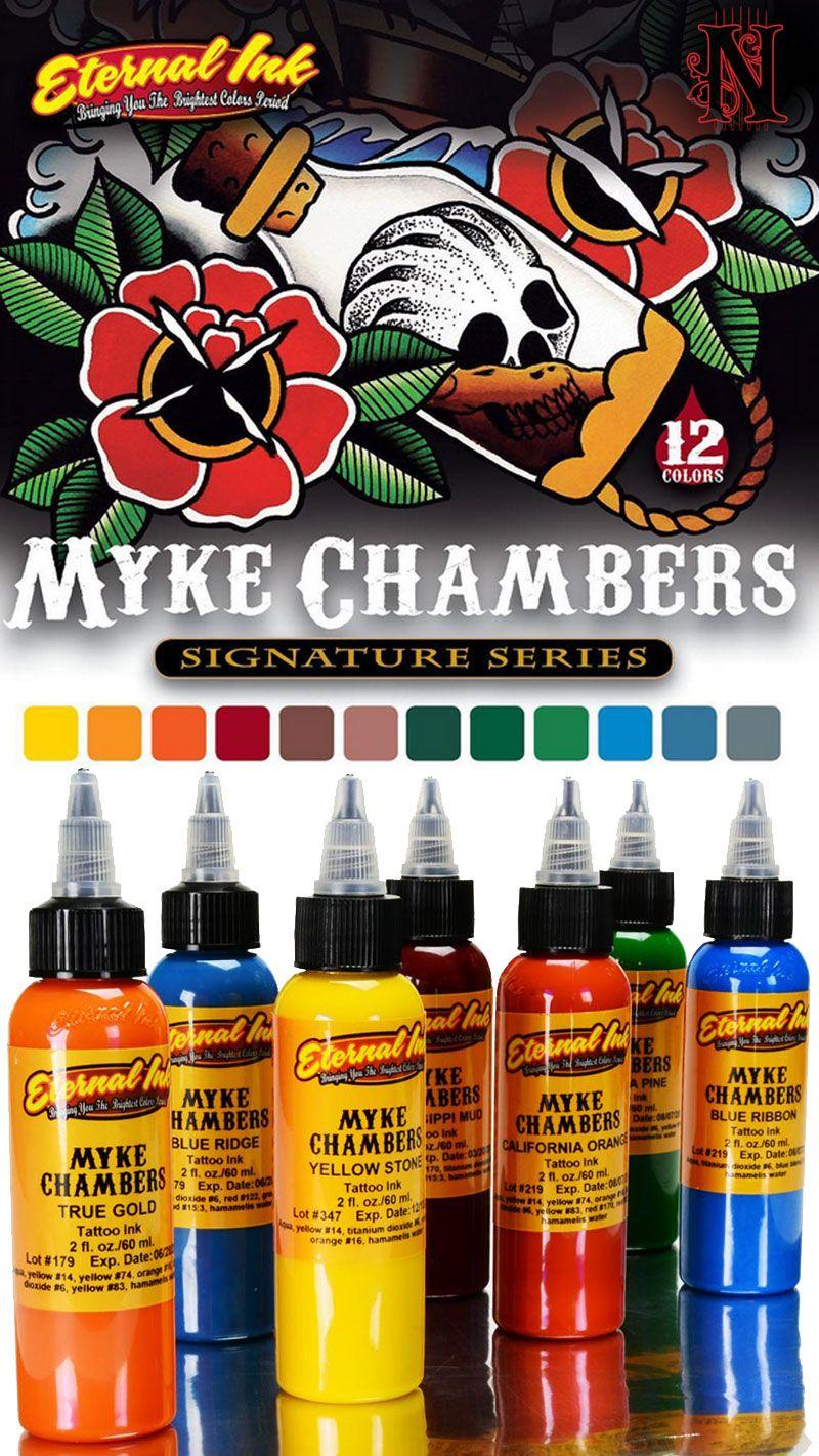 Myke Chambers Eternal Ink Set Traditional Tattoo Colours Tattoo Machine Kits Best Tattoo Ink