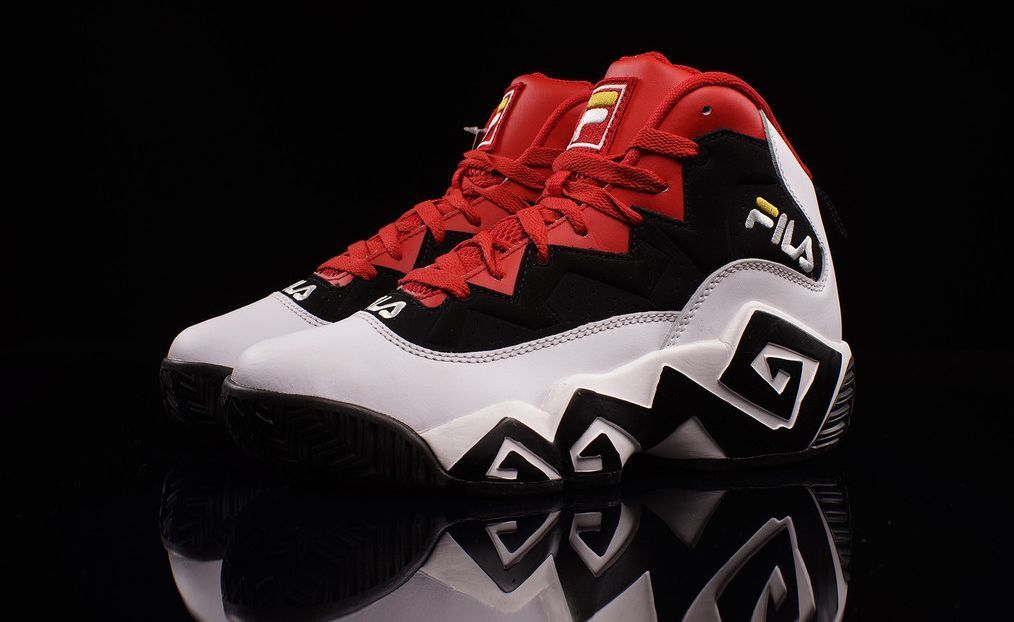 93c1cc4e52b MEN s fila MB Sneakers. The MB off the bat features an iconic-signature  design on the black and white midsole