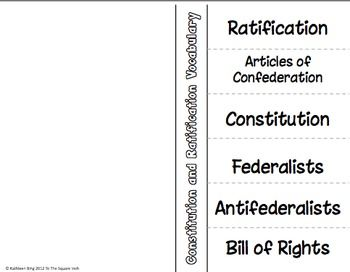 Ratification of the Constitution Activities | Activities, The o ...