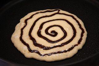 Cinnamon Roll Pancakes by recipegirl via punchfork #Pancakes #Cinnamon_Roll_Pancakes #recipegirl #punchfork