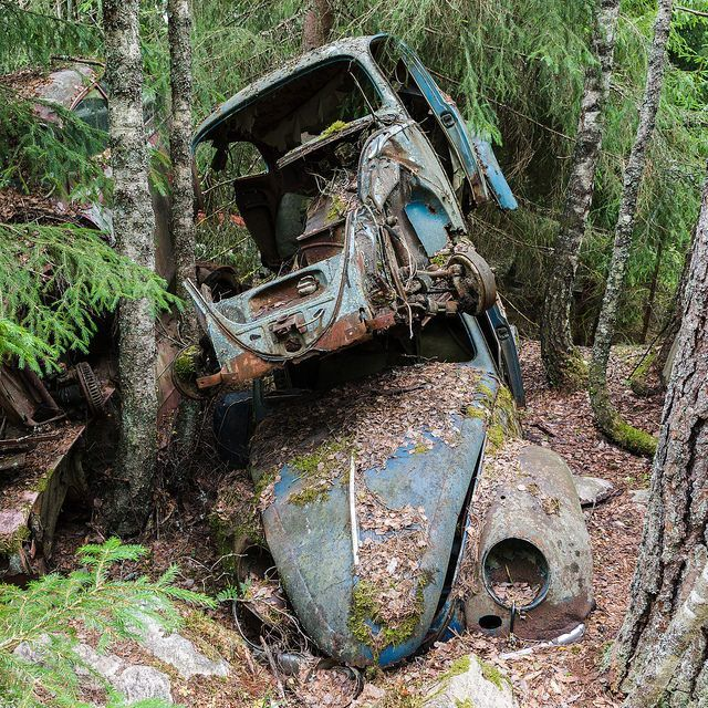 Lada Car Crash River