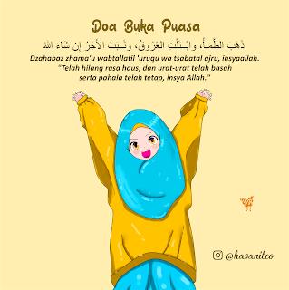 Doa Buka Puasa Yang Benar Dzahaba Kartun Muslimah Terbaru 2019 Doa Kartun