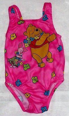 Winnie The Pooh Swimsuit Baby Girls Size 18 Months One Piece Disney Swimwear