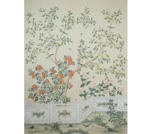 SY-201 : Handpainted Chinese Scenic Panel Created In The