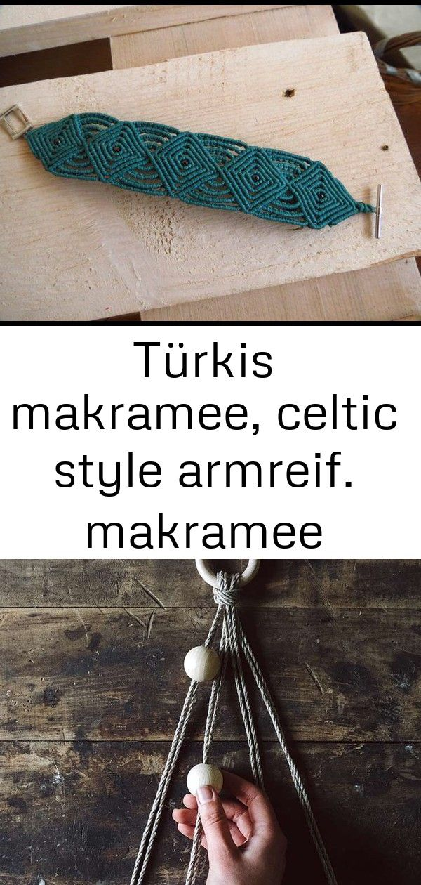 Türkis makramee, celtic style armreif. makramee armband keltischen stil #gartendekoselbermachen