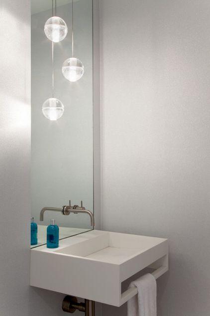 Modern powder room by gne architecture bathroom - Modern powder room vanity ...