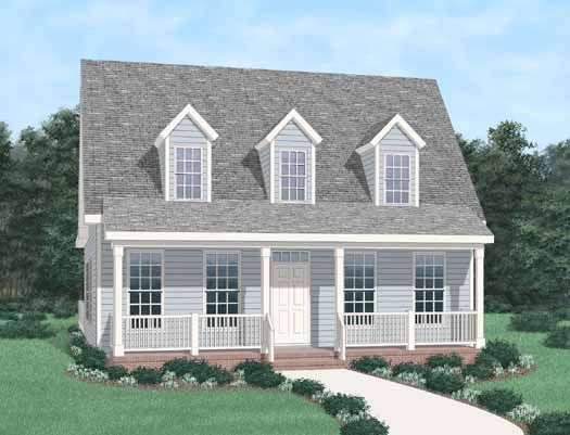 12 12 roof pitch cape cod style house plan house plans for Small cape cod house plans