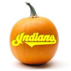 Indians Jack-O-Lantern.