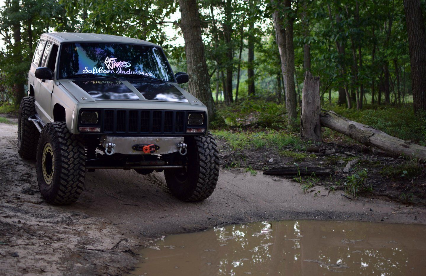 84 01 Cherokee Xj Stubby Bumper With Hidden Recessed Winch Jeep