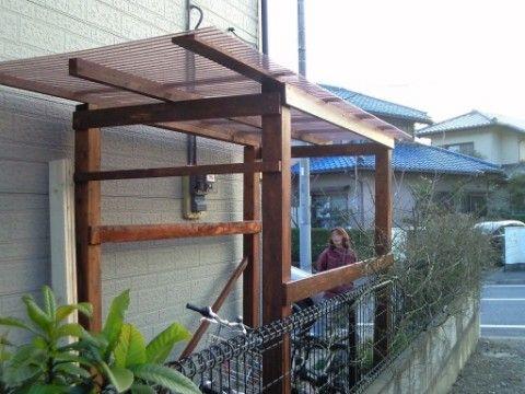 自転車置き場を作りました 彡 グンマーのit屋のブログ 彡 自転車置き場のdiy集 サイクルポート 庭自作 手作 作り方 基礎木製アルミ単管 House Outdoor Structures Pergola