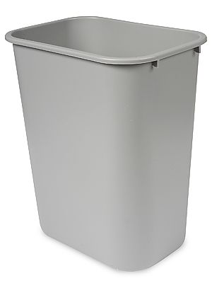 Rubbermaid® Office Trash Can   10 Gallon, Gray S 13527GR   Uline