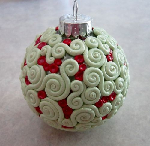 Polymer clay covered ornament cool art pinterest ornaments polymer clay covered ornament solutioingenieria Gallery