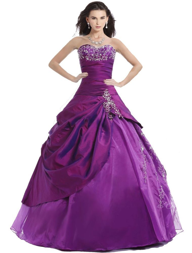 FairOnly Purple Ball Gown Cocktail/Evening Prom Dress Size 6 8 10 12 ...
