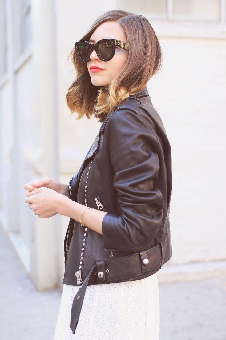 Black Faux Leather Long Moto Jacket
