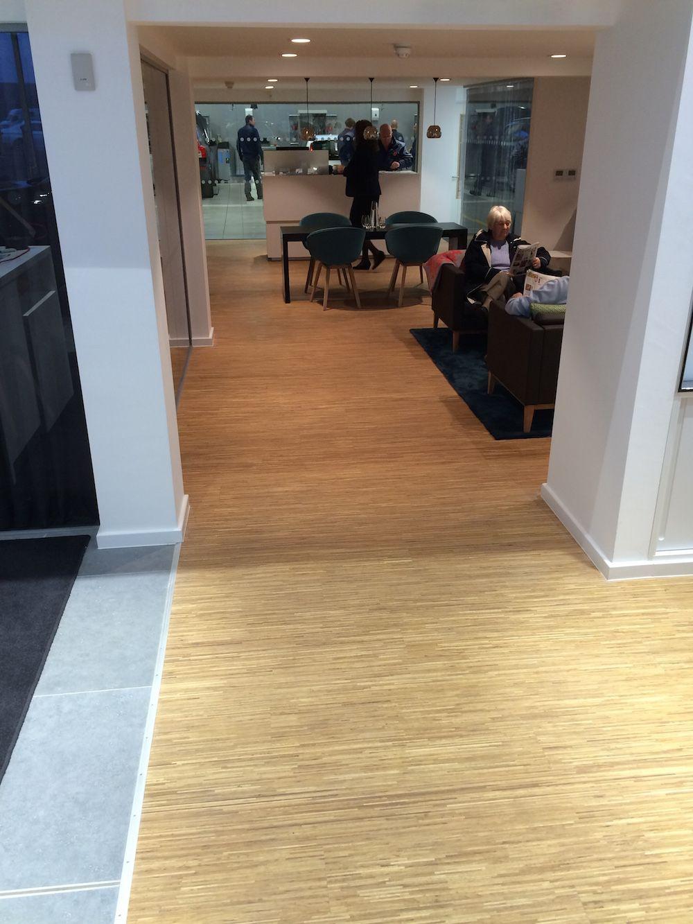 Malton Volvo showroom with Fineline oak floor Vloeren