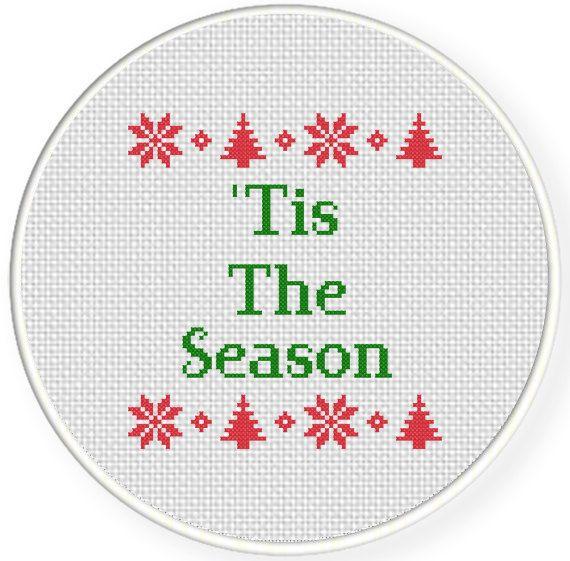 Tis The Season PDF Cross Stitch Pattern by DailyCrossStitch