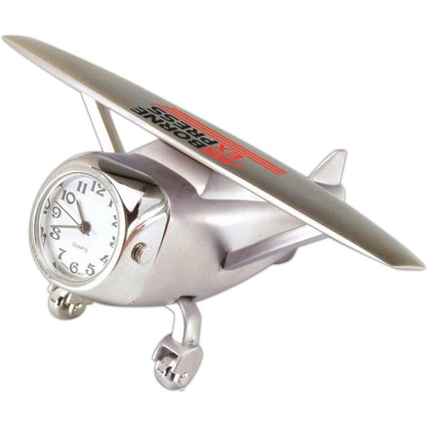 Watch Your Promotions Take Flight With This Cast Airplane Clock Made Silver Desk Is A Creative Way To Help
