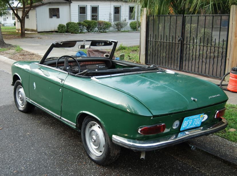 Rare in the USA 1970 Peugeot 204 Cabriolet Project