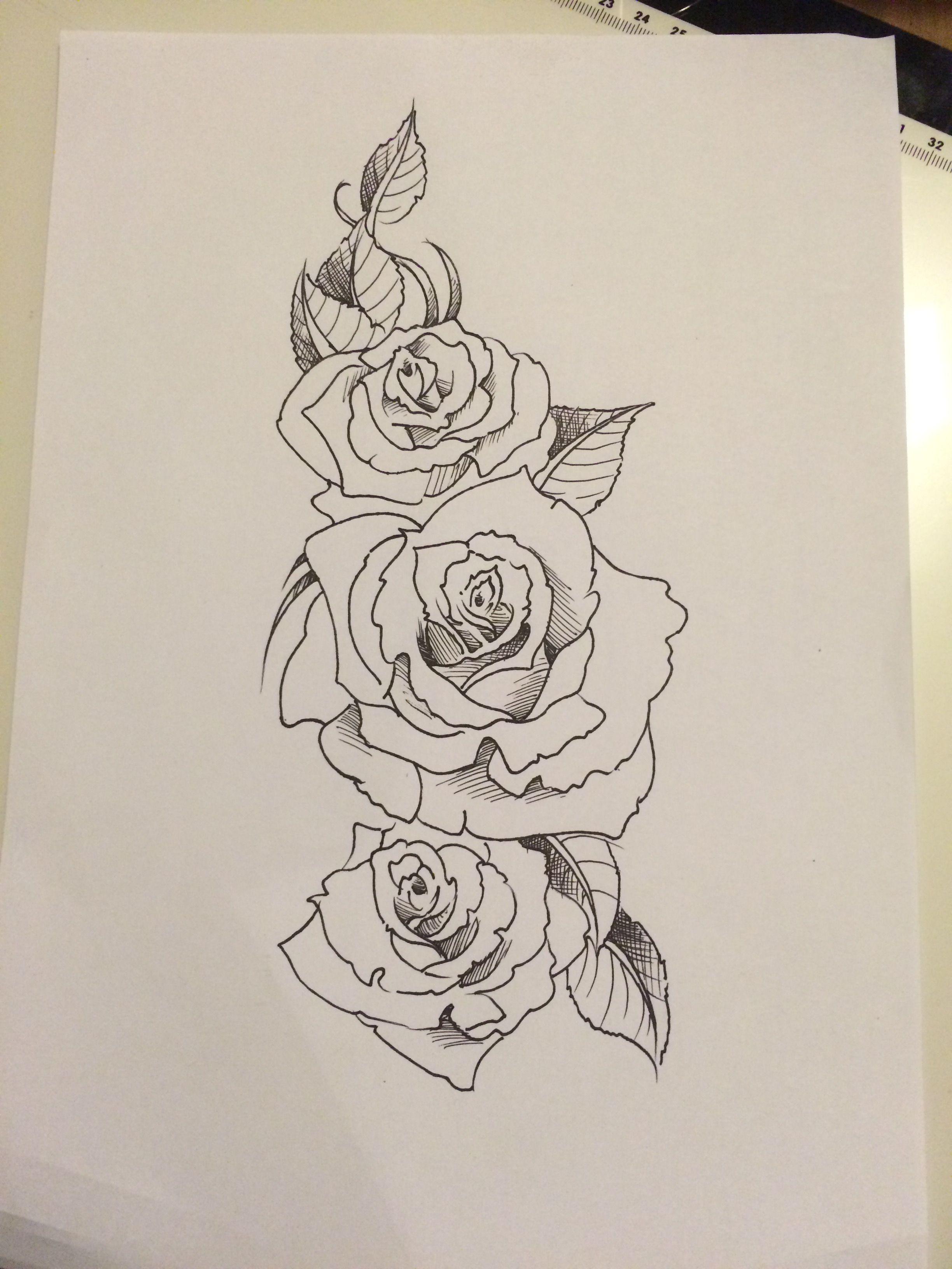 e9c81db2f Custom rose tattoo tattoo done by Travis Allen at twisted tattoo Yaxley  Www. twistedtattoo.