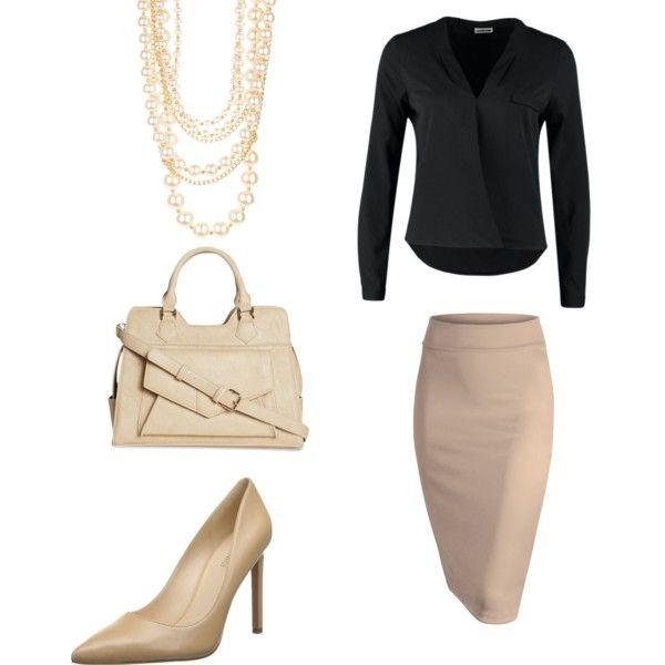 Career Wear Neutral Tones by joyeuxun on Polyvore featuring polyvore, fashion, style, Noisy may, Nine West and t+j Designs