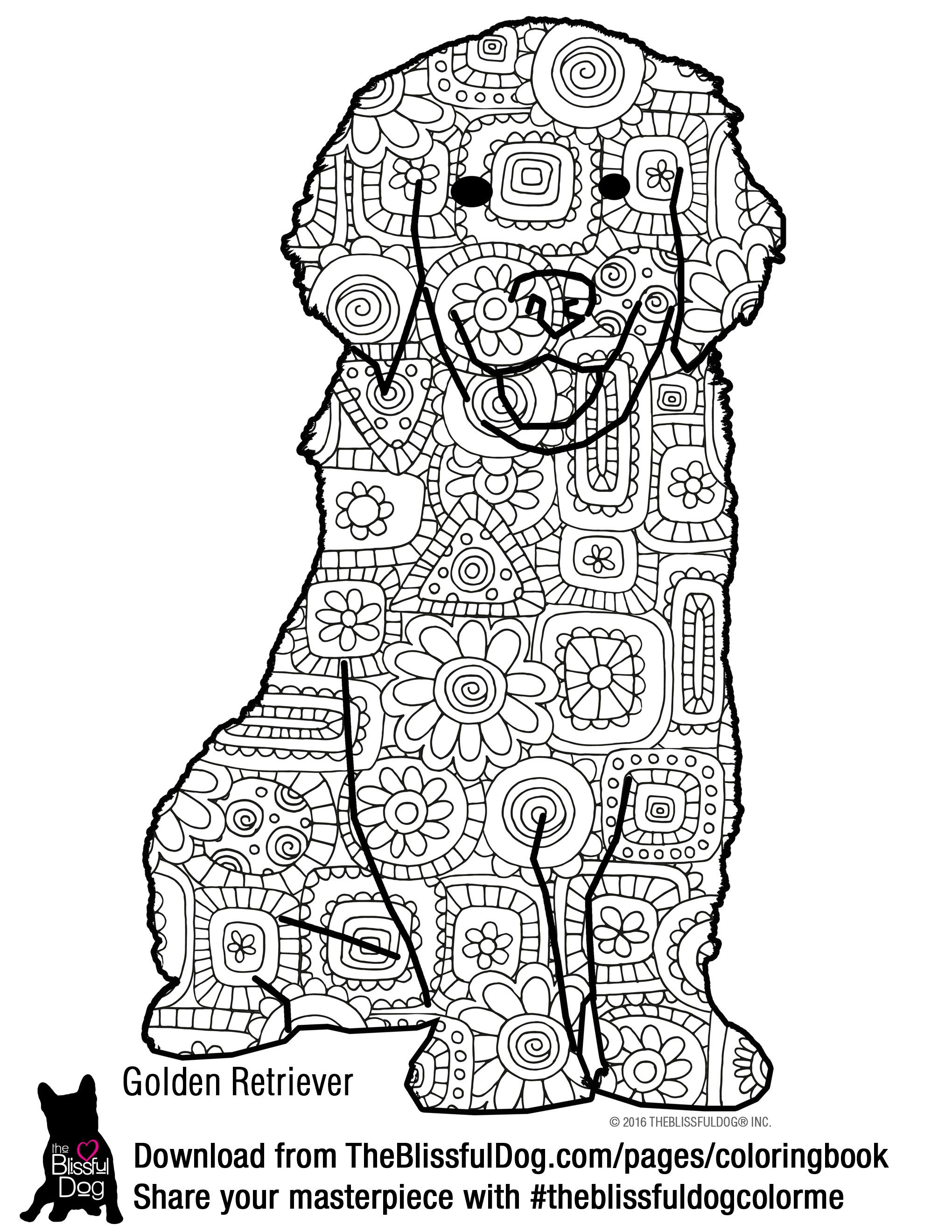 Coloring Book Dog Coloring Book Printable Christmas Coloring