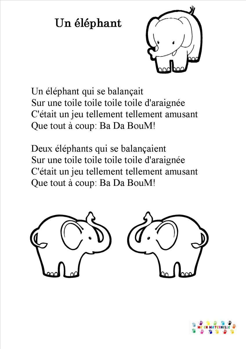 parole chanson elephant qui se balancait