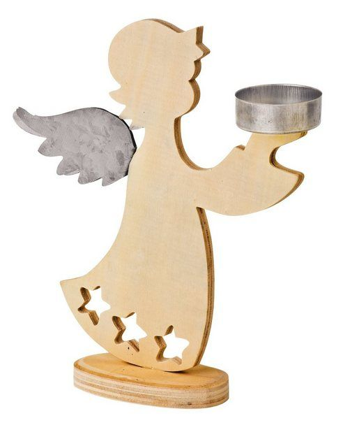 VBS angel tealight holder, 2 pieces, dimensions: approx. W / D / H 17.5 cm / …