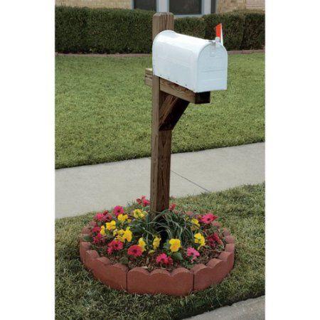 Pavestone Outdoor Decorative 12 Curved Scallop Red Concrete Edger Walmart Com In 2020 Mailbox Landscaping Mailbox Decor Mailbox Garden