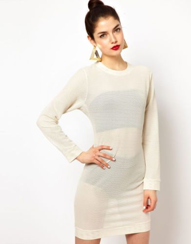 Aqua-ASOS-Ally-Bodycon-Mini-Dress-In-Basket-Mesh-Jersey-in-Black-UK-10-EU-38