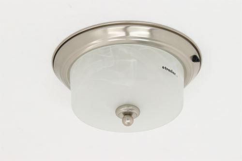 Gustafson Rv Ceiling Light W Gl Shade Satin Nickel