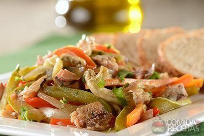 Receita de Antepasto de legumes com sardinha em receitas de legumes e verduras, veja essa e outras receitas aqui!