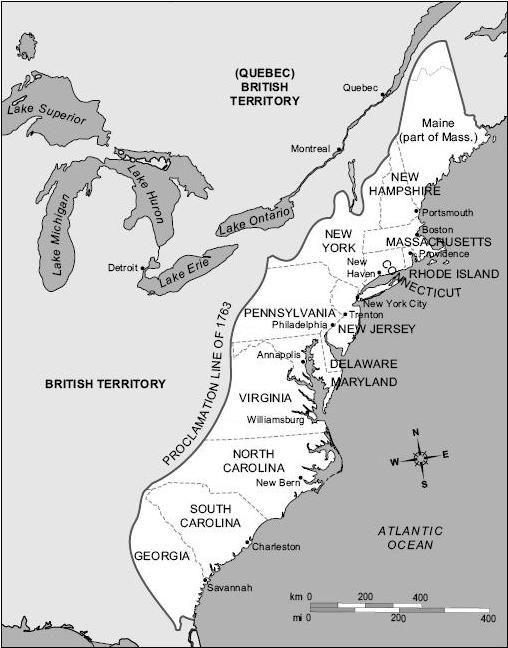 13 Colonies With Major Portscities  Social Studies