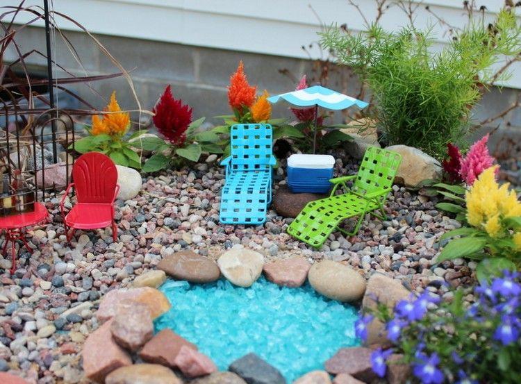 minigarten gestalten miniatur gartenm bel deko mini teich garten pinterest fairy gardens. Black Bedroom Furniture Sets. Home Design Ideas