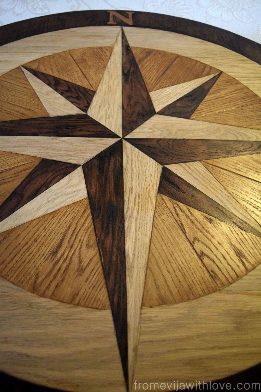 Diy compass table fffc september contest geometric