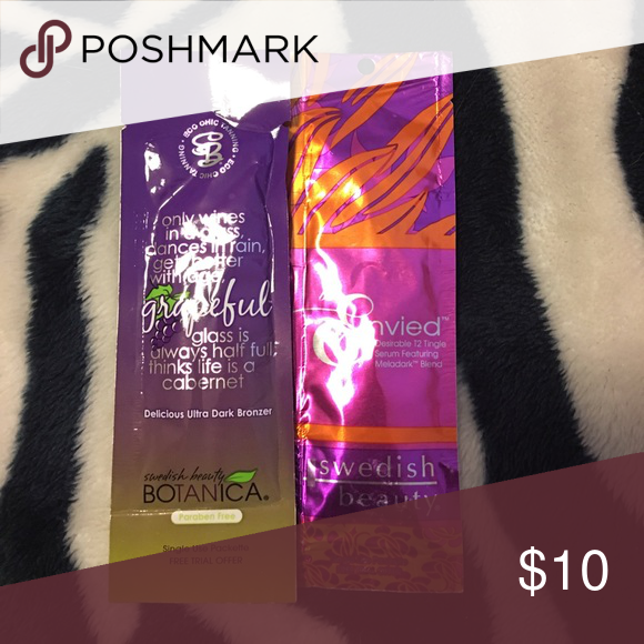 Single tanning lotion packets