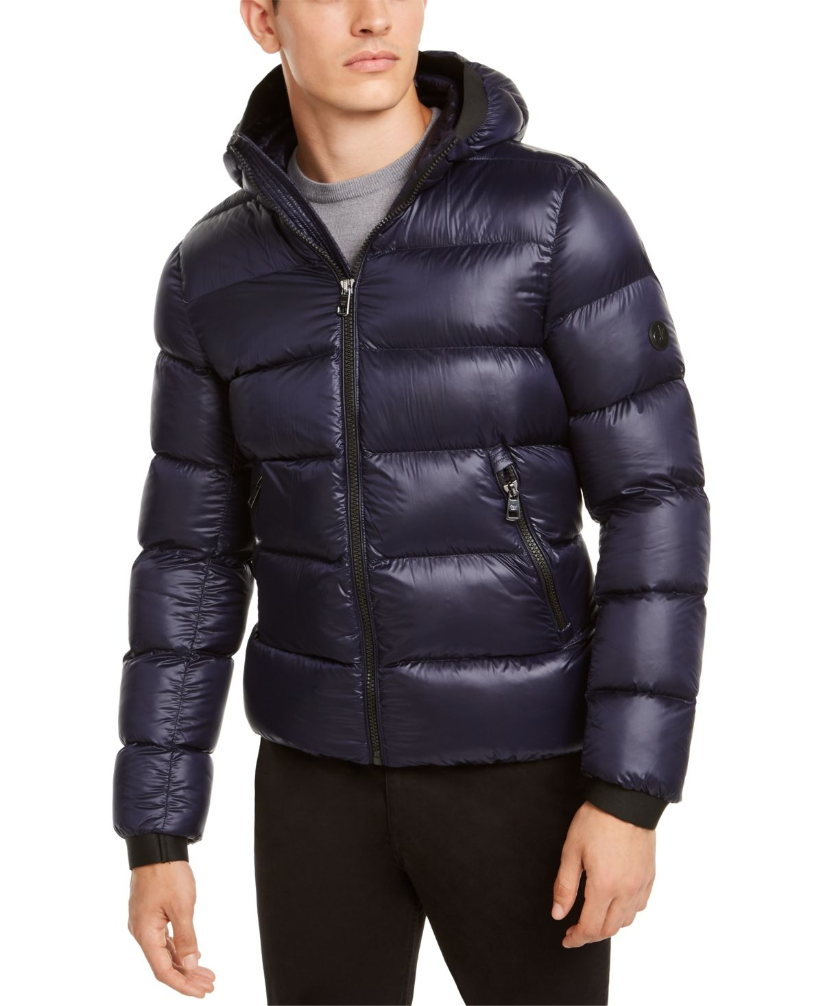 Calvin Klein Men S Slim Fit Hooded Water Resistant Down Jacket Reviews Coats Jackets Men Macy S Slim Fit Men Calvin Klein Men Slim Man [ 1466 x 1200 Pixel ]