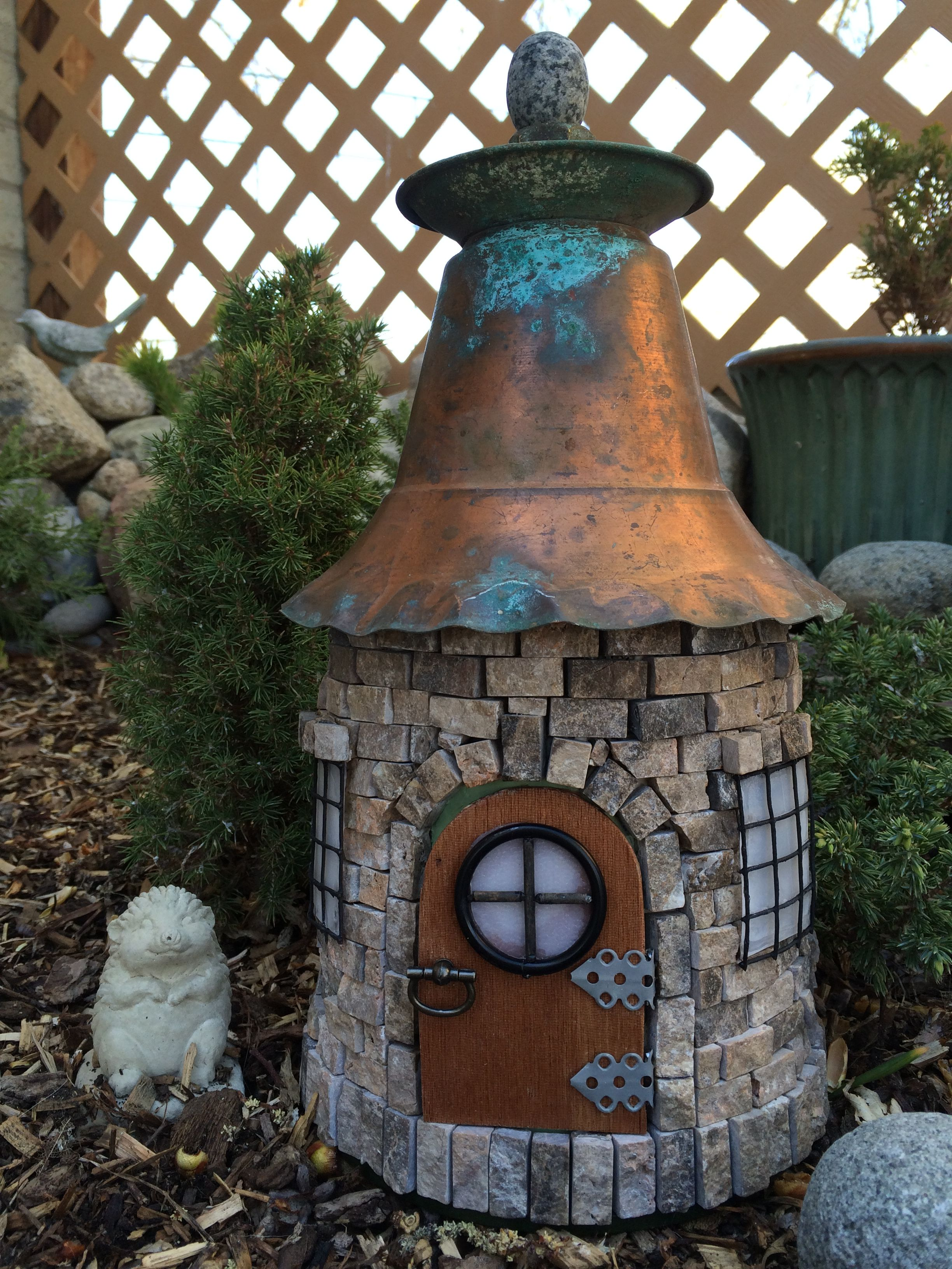 My Diy Stone Fairy House Or Quot Gnome Home Quot Made With