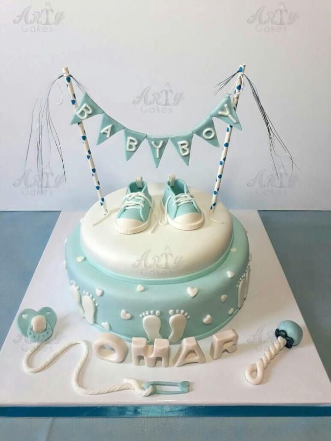 Wecome Baby Boy Cake By Arty Cakes Baby Shower Cake Topper Baby Cake Design Baby Boy Cakes