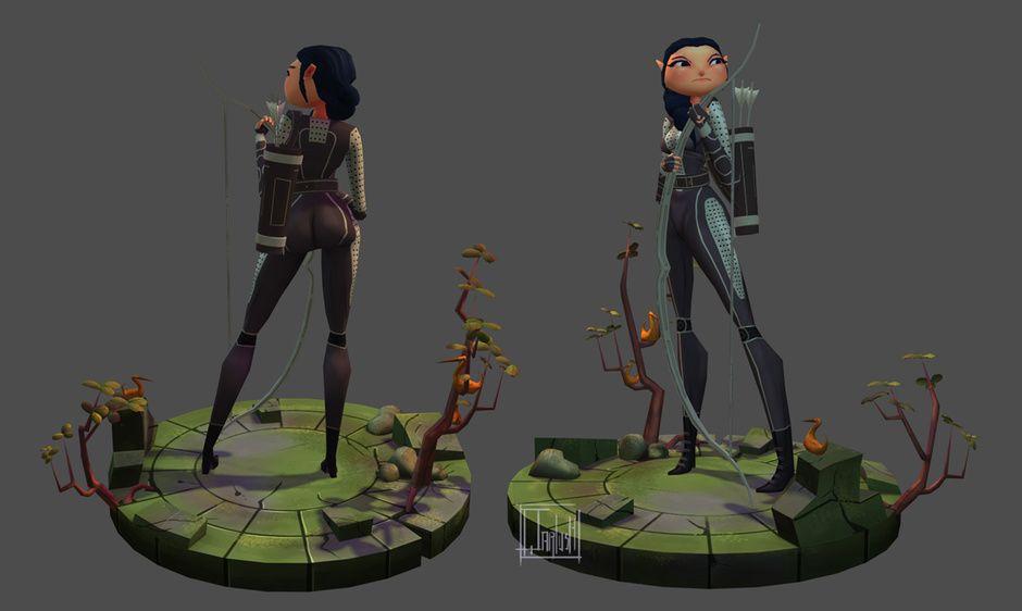 katniss everdeen by Qarlos Quintero | Fan Art | 3D | CGSociety