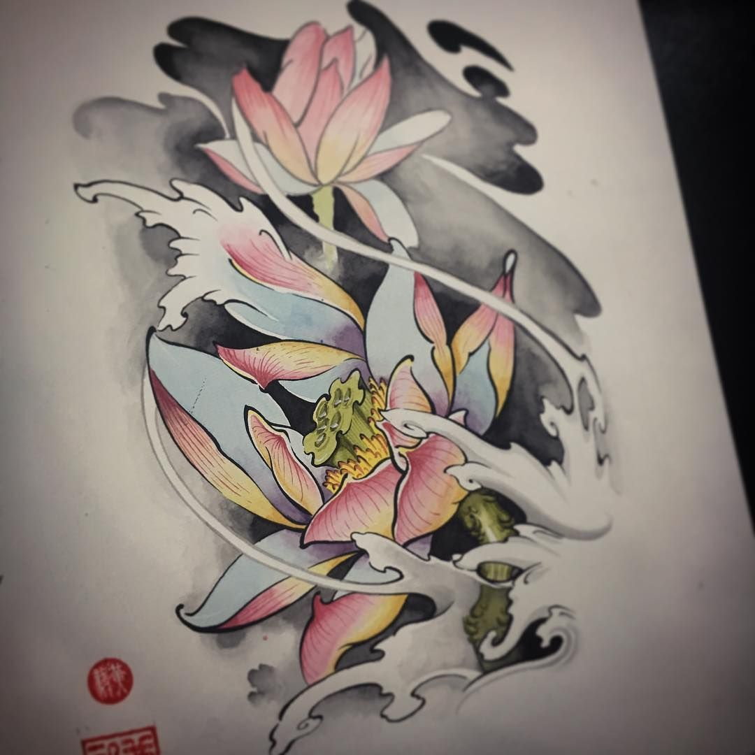 Tattoo Of Lotus Flower Irezumi Japan Tattoo Flora Flower Irezumi Japan Tattoo Lotus Addflash Org Hinh Xăm Hoa Sen Hinh Xăm Hoa Hinh Xăm