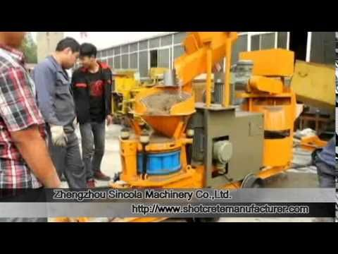 Concrete Dry-mix Shotcrete Machine - Dry Mortar mixer and