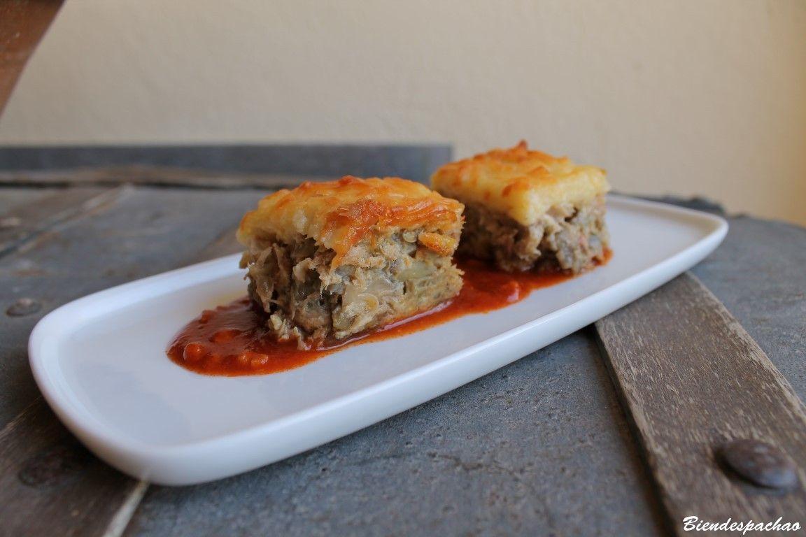 Rico y sencillo pastel de atún y berenjenas. Encuentra la receta en nuestro blog http://bit.ly/1xxeVEt