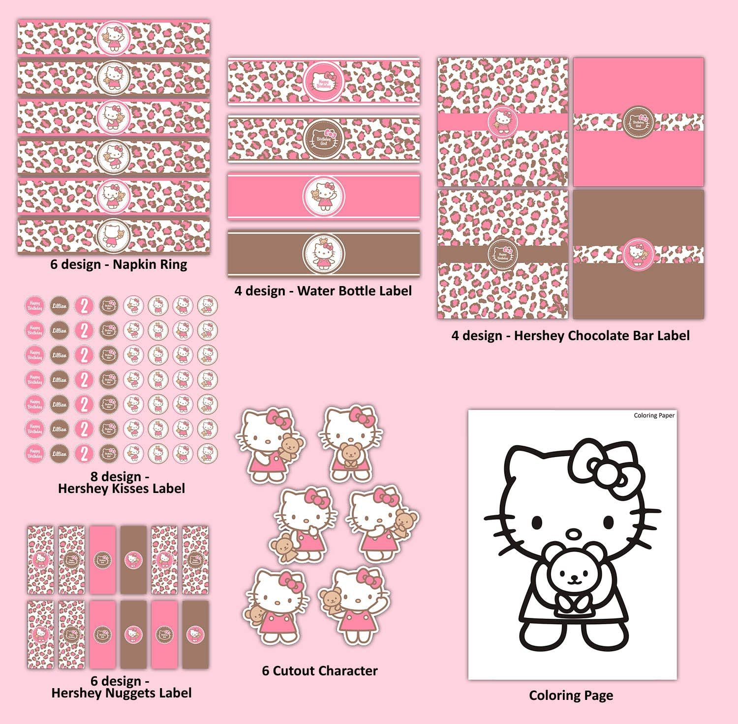 Hello kitty birthday cards free printable hello kitty pattern