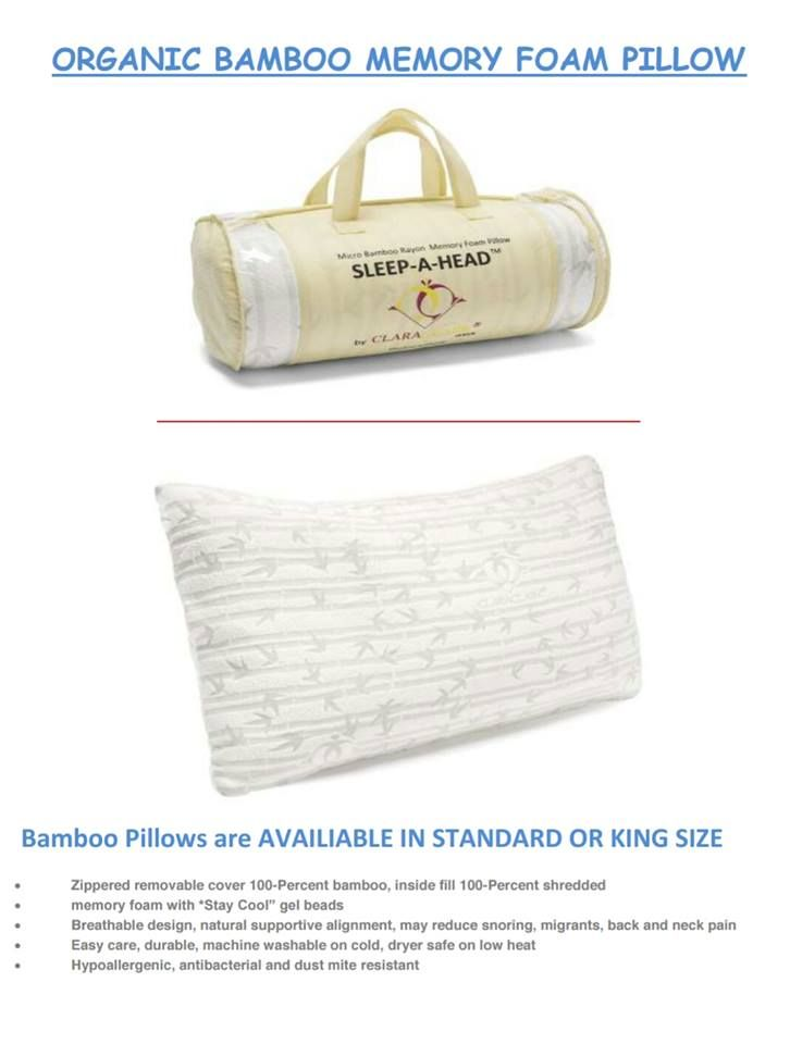 Clara Clark Memory Foam Pillow Free Home Delivery Tax Included Standard 8 King 40 Memory Foam Pillow Memory